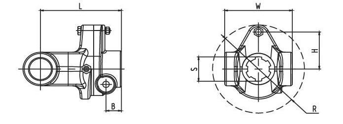 Shear bolt torque limiter SB Series for PTO drive shafes